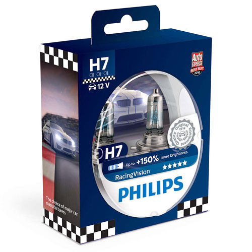 PHILIPS 12972RVS2 H7 55W 12V PX26d RacingVision+150%